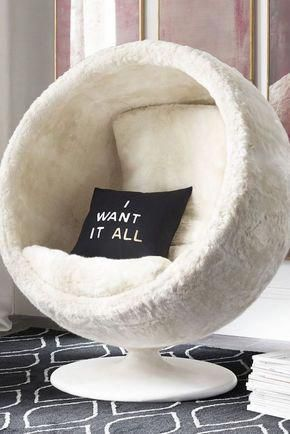 Deco Chambre Ado Fille Fauteuil Chaise Noeud Cocooning Tapis Noir