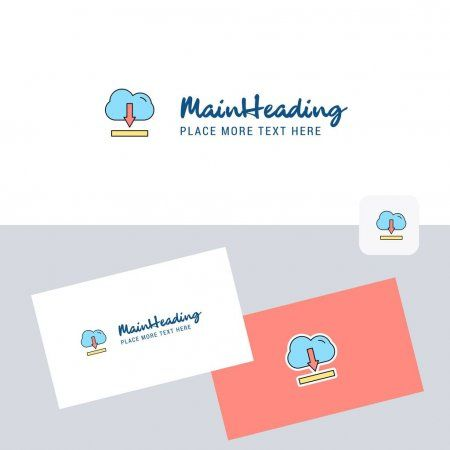 Cloud Downloading Vector Logotype Business Card Template Elegant Corporate Ident Ad Logotype Business Ve In 2020 Business Card Template Card Template Logotype
