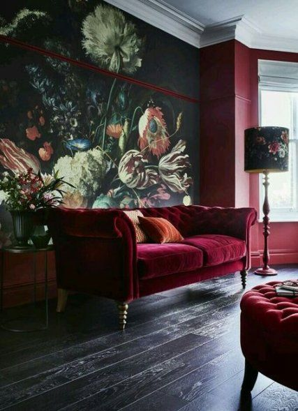Super Living Room Dark Green Walls Emeralds Ideas Livingroom Living Room Red Wallpaper Living Room Living Room Colors