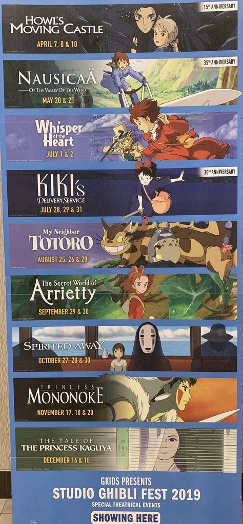 Studio Ghibli Fest 2019. Check your local theaters for screenings.