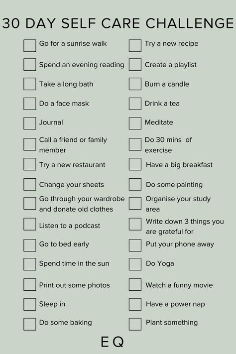 Use our 30 Day Self Care Challenge checklist to inspire you to take care of your mental health for the month ahead. #selfcare #mentalhealth