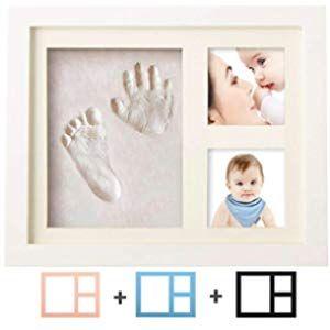 CHSEEO Set de Marco de Fotos y Huellas de Beb/é para Ni/ño y Ni/ña Regalos de Recuerdo Impresi/ón de Huellas de Mano y Pie Fotos y Recuerdos para Bebes #1