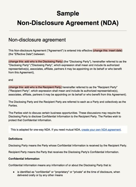 screenshot-sample-non-disclosure-agreement-templatejpg (876×1204 - sample non disclosure agreement