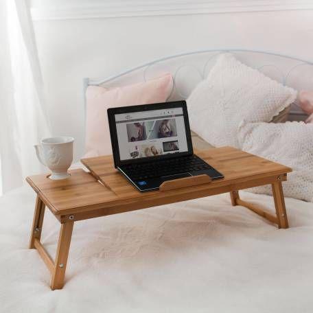 Laptoptisch Aus Holz Hohenverstellbar 72x35x26cm Gunstig Online Kaufen Tectake Laptoptisch Tisch Betttisch
