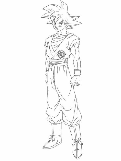 Ultra Instinct Goku Coloring Pages Super Coloring Pages Cartoon Coloring Pages Monster Coloring Pages