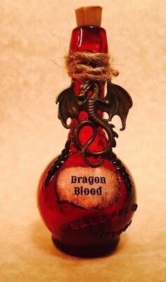 This decorative dragon blood bottle is handmade from a vintage ball and claw bitters bottle. It is approximately 8 cm tall. Please be advised. The bottle is empty. It awaits you to conquer the dragon and fill it. Glass Bottle Crafts, Mini Glass Bottles, Bottle Charms, Bottle Art, Halloween Potion Bottles, Halloween Apothecary, Wicca, Witch Potion, Magic Bottles