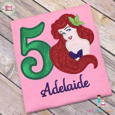Little Mermaid Birthday Shirt Princess Ariel Personalized Disney