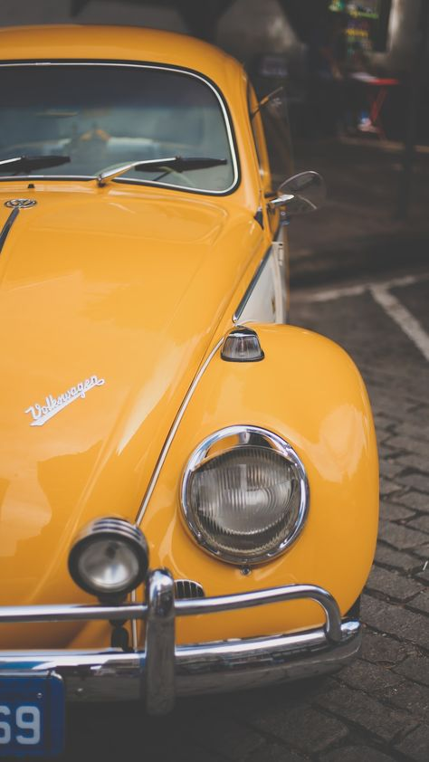 Cute cars yellow Ideas for 2019 Yellow Aesthetic Pastel, Aesthetic Colors, Aesthetic Pictures, Bedroom Wall Collage, Photo Wall Collage, Picture Wall, Yellow Car, Yellow Walls, Vw Vintage