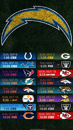 Los Angeles Chargers 2019 Mobile Field Nfl Schedule Wallpaper Los Angeles Chargers Los Angeles Chargers