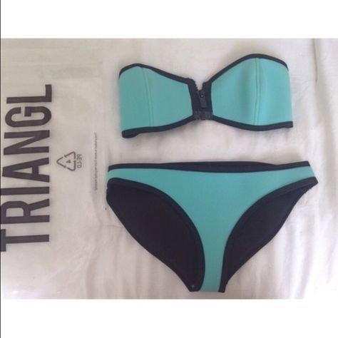 639d8f607b Triangl bathing suit Miami Mint triangl bikini! Bought from a girl on Vinted  unfortunately too small for me. Top fits more of an a cup/xs bottom fits a  ...