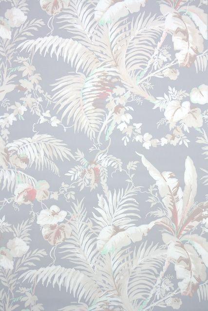 1940s Botanical Vintage Wallpaper In 2021 Wallpapers Vintage Vintage Wallpaper Textured Wallpaper