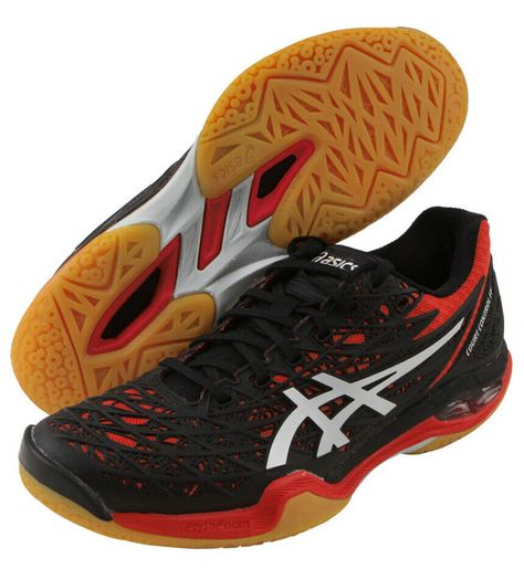 Asics Mens Gel-Beyond 4 Indoor Court Shoes Black White Yellow Sports Badminton