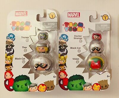 Tsum Tsum Series 1 Lot Of 2 Packs New Marvel Jakks Vinyl Stack Em Disney Thanos Ebay Marvel Tsum Tsum Cool Toys