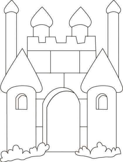 Castelo Castelos Desenho Castelo Para Colorir E Festa Medieval