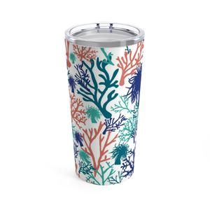 This Durable 20oz Ocean Beach Coral Themed Stainless Steel