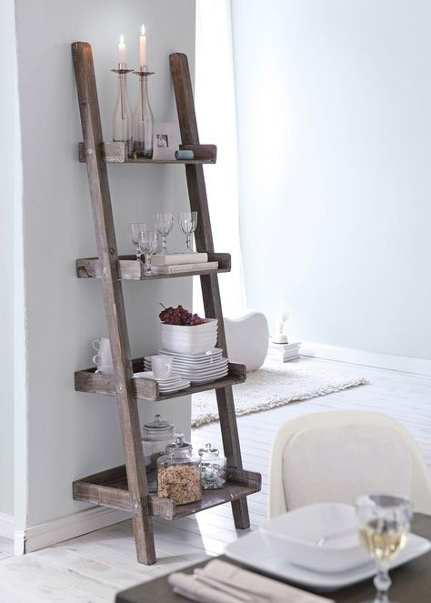 """Leiterregal """"Used Look"""", Home Collection, Holz - Fichte"""
