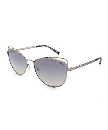 f32435c8b475 Michael Kors | Silvertone & Cloud St. Lucia Cutout Cat-Eye Sunglasses in  2019 | glasses eye | Cat eye sunglasses, Glasses, Sunglasses