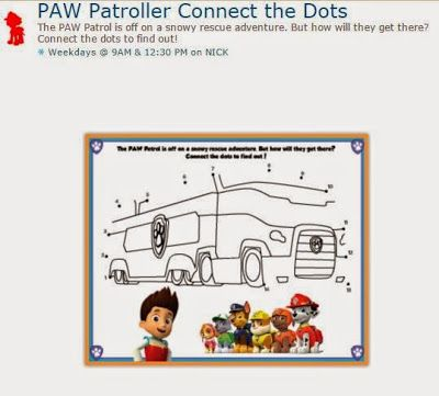 Paw Patrol Free Printable Connect The Dots Game Connect The Dots Game Dots Game Scrapbook Printables Free