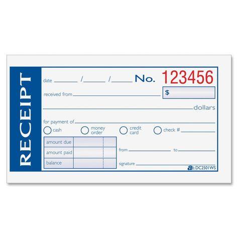 Hand Written Or Computer Generated Receipts Receipt Template