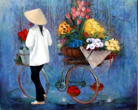 To Huu Fille Du Vietnam George Corominas Peintures Asiatiques