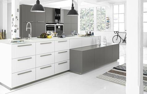 glanzwände graphit modernes küchen design nolte | Küchen | Pinterest ...