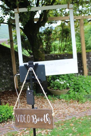 Diy Video Booth In The Garden At Upwaltham Barns Upwaltham Barns Video Booth Creative Wedding Ideas