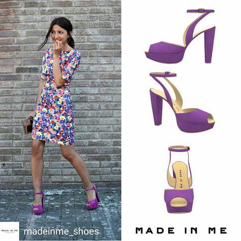❤📷@madeinme_shoes - El morado va a verse mucho este otoño. Diseña a tu gusto unas #sandalias peeptoe inspiradas en estas de la bloguera Lovely Pepa y causarás sensación en cualquier fiesta. 💻 www.madeinme.es ———————————— Purple will be everywhere...