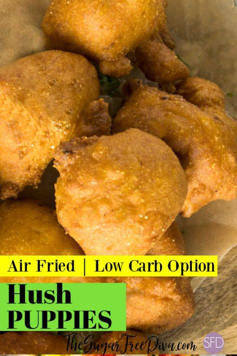 Air Fried Low Carb Hush Puppies Airfried Homemade Lowcarb Keto