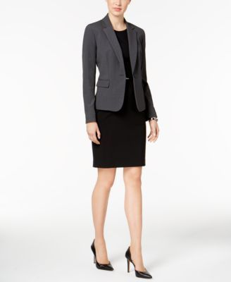 Nine West One-Button Jacket - Gray 14
