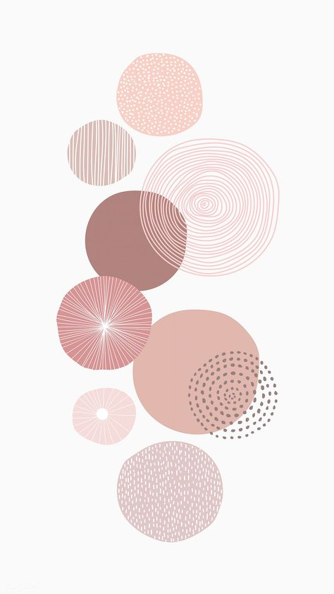 Pastel pink round patterned background vector | premium image by rawpixel.com / marinemynt Aesthetic Backgrounds, Aesthetic Iphone Wallpaper, Aesthetic Wallpapers, Iphone Wallpaper Minimal, Original Iphone Wallpaper, Iphone Background Wallpaper, Pastel Wallpaper, Mobile Wallpaper, Iphone Background Vintage