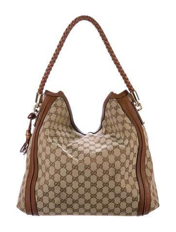 180bbd59a #Valentines #AdoreWe #The RealReal - #Gucci Gucci Large GG Canvas Bella  Hobo - AdoreWe.com