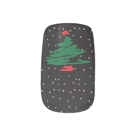 Christmas Tree Minx Nail Art Zazzle Com Minx Nails Holiday Nail Art Christmas Nail Art Designs