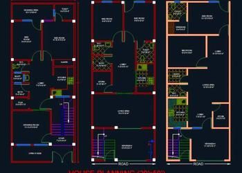 House Architectural Space Planning Floor Layout Plan 20 X50 Free Dwg Download Autocad Dwg Plan N Design In 2020 Simple House Plans Floor Layout 2bhk House Plan