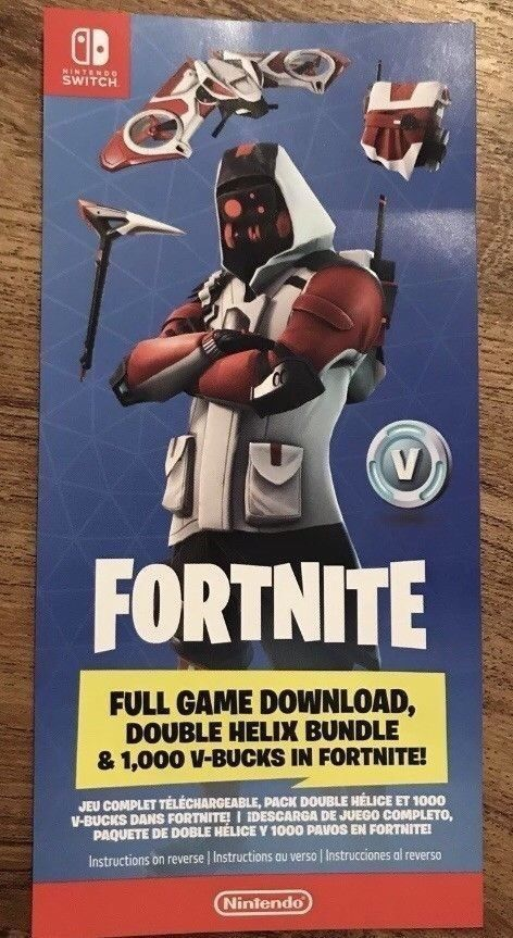 Fortnite Double Helix Code Nintendo Switch Exclusive (Read