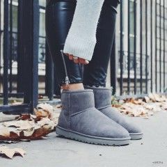 Outfit UGG Classic Mini Grey | Winter outfits in 2019