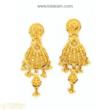 76e8dbc19 22K Gold Drop Earrings for Women - 235-GER8603 - Buy this Latest Indian  Gold Jewelry Design in 14.250 Grams for a low price of $859.99
