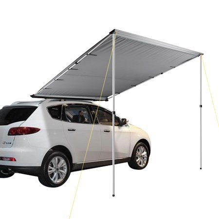 6 6 X8 2 Car Side Awning Rooftop Pull Out Tent Shelter Shade Camping Walmart Com Car Tent Tent Tent Awning