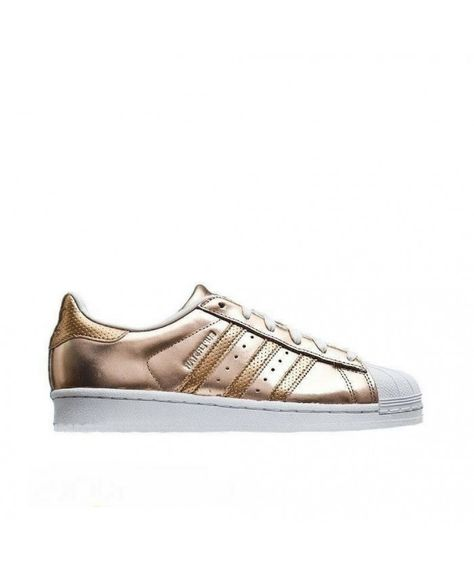 new product 102d5 3aae9 Adidas Superstar Classic Perforated Rose Gold Stripes Shoes Sale UK