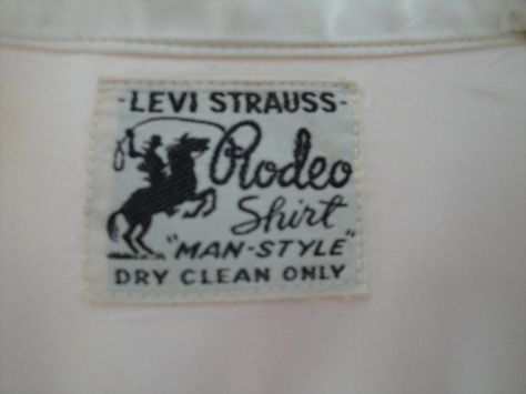 Levi Strauss Rodeo shirt label - 1930s -40s pre WWII