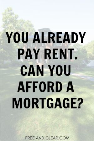 How Much Mortgage Can I Afford Based On Rent Calculator Freeandclear Mortgage Payment Calculator Mortgage Loans Mortgage