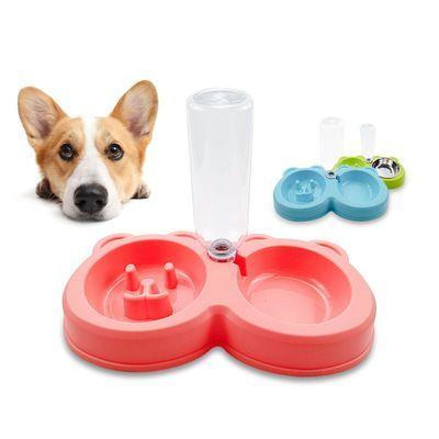 Dog Bowl Cartoon Bear Head Anti Choking Pot Stainless Steel Anti Skid Pet Bowl Automatic Drinker Pet En 2020 King S
