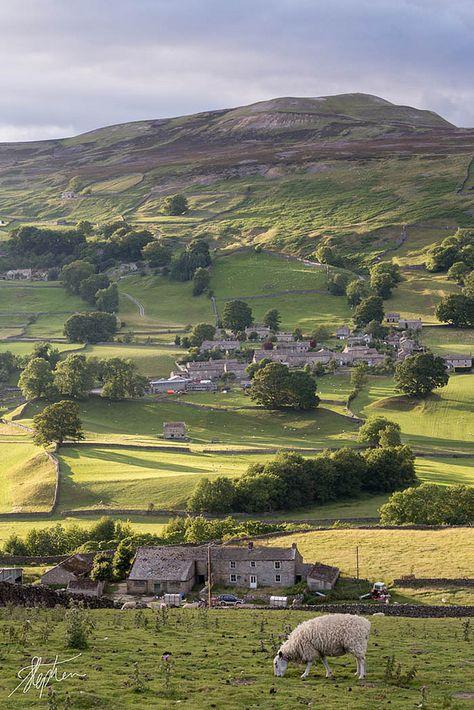 "England Travel Inspiration - ""Yorkshire Dales, England by Pixelda "" Yorkshire England, Yorkshire Dales, North Yorkshire, Cornwall England, England And Scotland, England Uk, Oxford England, London England, Leeds England"