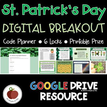 St Patrick S Day Breakout St Patricks Day Escape Room Activities Digital Teacher Guides Critical Thinking Growth Mindset