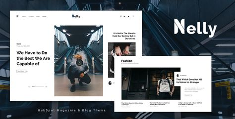 Nelly — Blog and Magazine HubSpot Theme   Stylelib