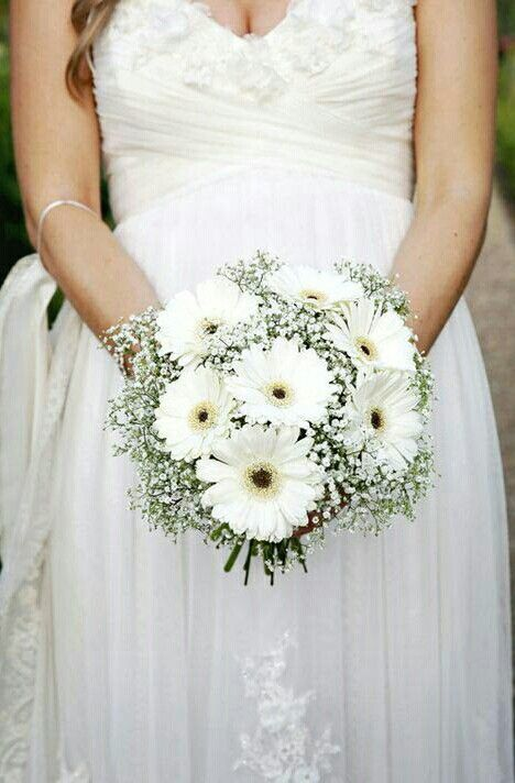 Rustic Boho Shabby Chic Country Wedding Bouquet Showcasing White Gerbera Daisies Surrou Daisy Bouquet Wedding Country Wedding Bouquets Wedding Bridal Bouquets