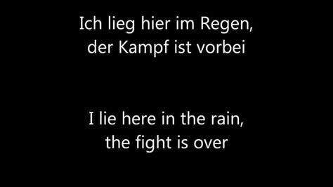 Oomph! - Regen (Lyrics + english translation)