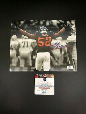 Khalil Mack Chicago Bears Autographed 8x10 Spotlight Photo W Free Frame Ebay In 2020 Chicago Bears Free Frames Mack