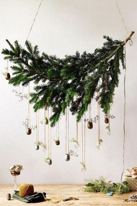 15 Ideas Diy Christmas Tree Branches Vase Scandinavian Christmas Decorations Alternative Christmas Tree Pretty Christmas Trees
