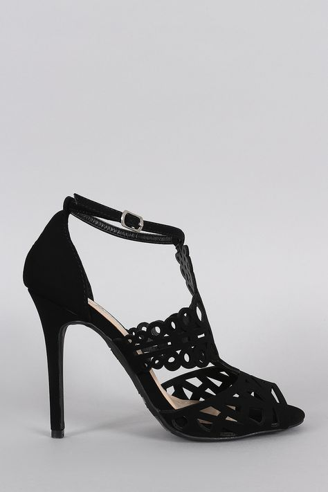 Anne Michelle Intricate Cutouts Peep Toe Heel – Bend the Trend Boutique