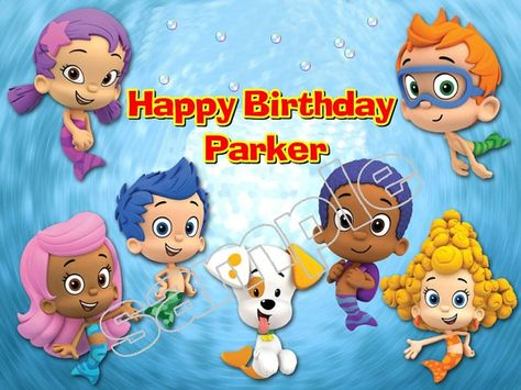 Bubble Guppies Frosting sheet cake topper by CustomEdibleToppers